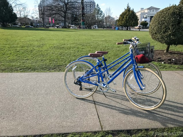 Complimentary bikes to explore the city